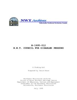 N.W.T. Council for Disabled Persons